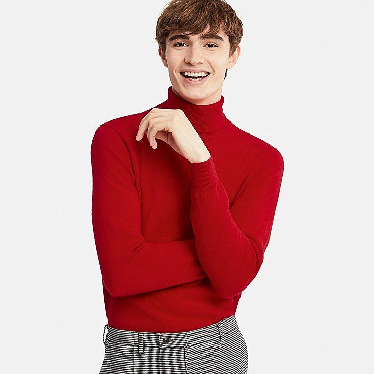 MEN CASHMERE TURTLENECK LONG SLEEVE SWEATER | Cashmere