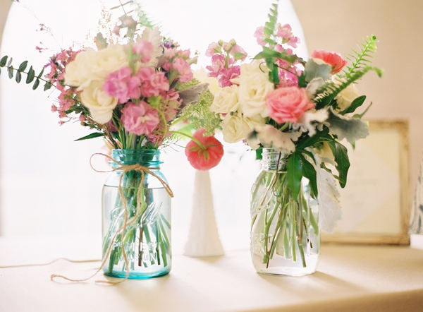 Mason Jar And Milk Gl Vases