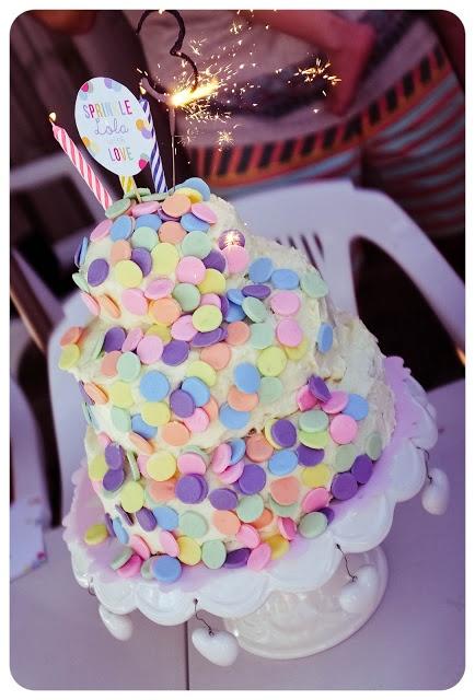 Confetti cake, spot cake, polka dot cake, spotty dotty cake, fondant confetti,