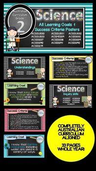 Grade 2 Science learning Goals and Success Criteria Australian Curriculum.