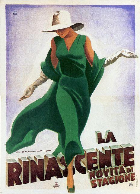 Marcello Dudovich. La Rinascente. 1931 by kitchener.lord, via Flickr