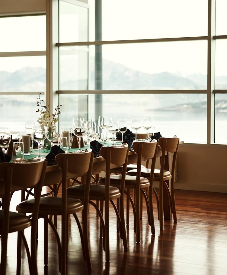 Dining at Whare Kea Lodge, Lake Wanaka, New Zealand.  Photo by Kieran Scott