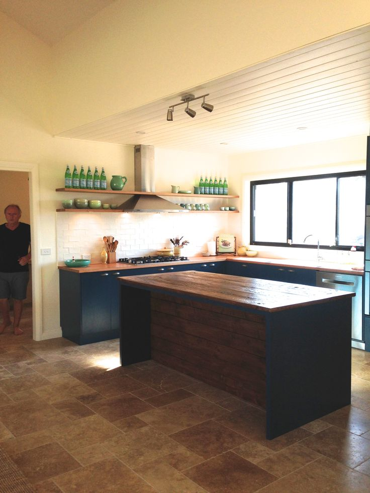 Kitchen - front of island to match Elm bench top