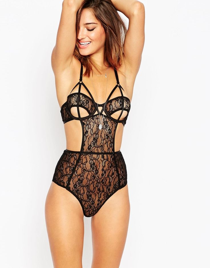 Image 1 of ASOS Risky Business Lace Body