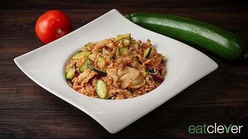Spanische Reispfanne - Eine leichte Reispfanne von der spanischen Küche inspiriert.