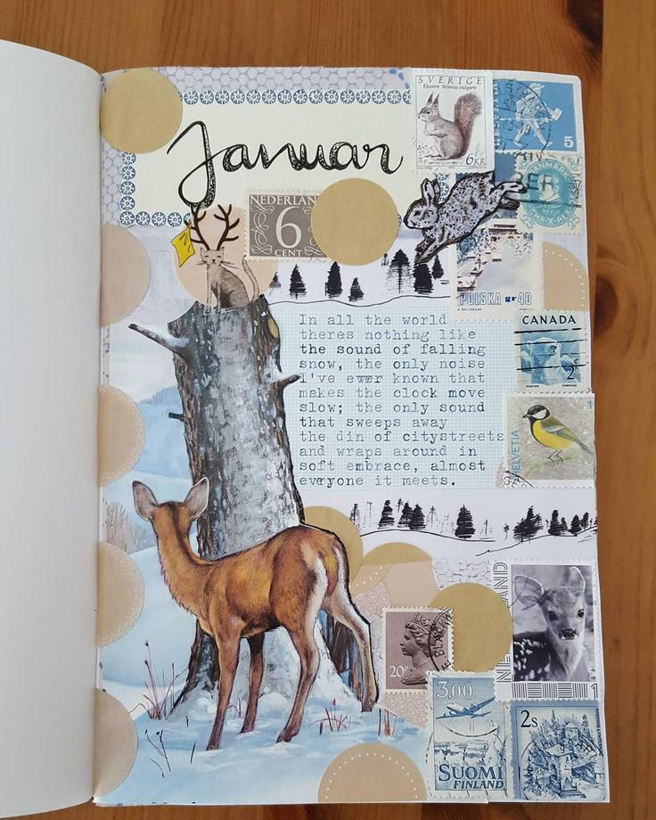Aaaaand my January welcome page. Made almost entirely with the beautiful things of the winter kit I purchased from @cherishedbydees. Check out her account and her etsy store. Incredible fast delivery and really awesome epherma. I think I'll never be able to offer you a streamlined IG account, all my pages turn out differently as I love to experiment. . Meine Januarseite, erstellt mit dem Epherma Kit von @cherishedbydees. Da waren wirklich tolle Sachen drin. Ich denke ich werde es nie…