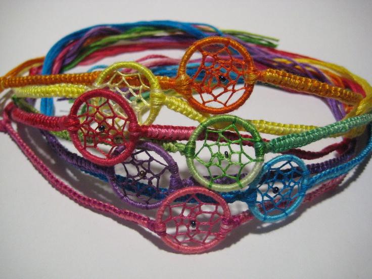 Custom Made Dream Catcher Bracelets. $6.00, via Etsy.