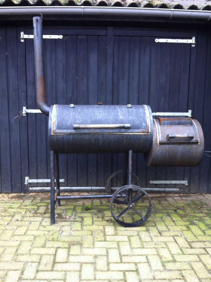 My new toy. A home build offset smoker bought 2nd hand. Just needs some paint and it's ready to fire up.