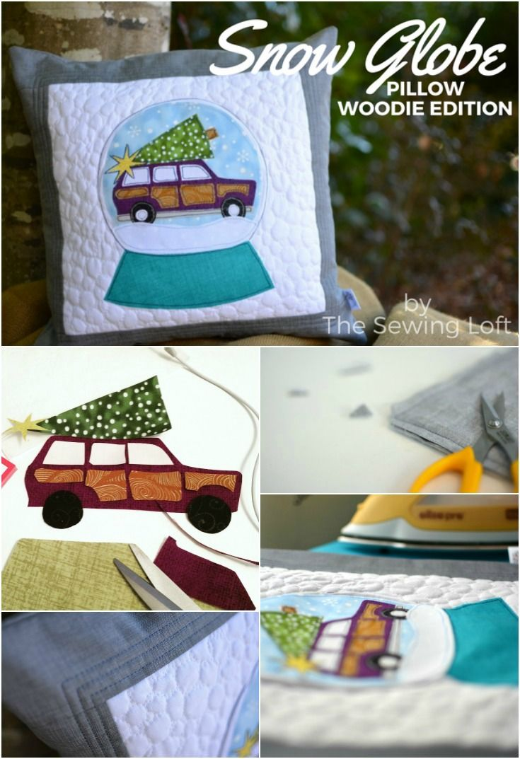 Christmas Snow Globe Woodie Applique Pillow. I love the way it looks with my holiday & Best 25+ Applique pillows ideas on Pinterest | Applique ideas ... pillowsntoast.com