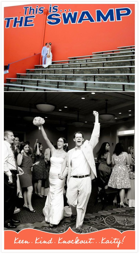 Entering the reception to the fight song: priceless