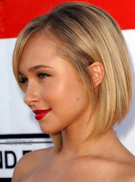 Hayden Panettiere Short Straight Bob Hairstyle for Women