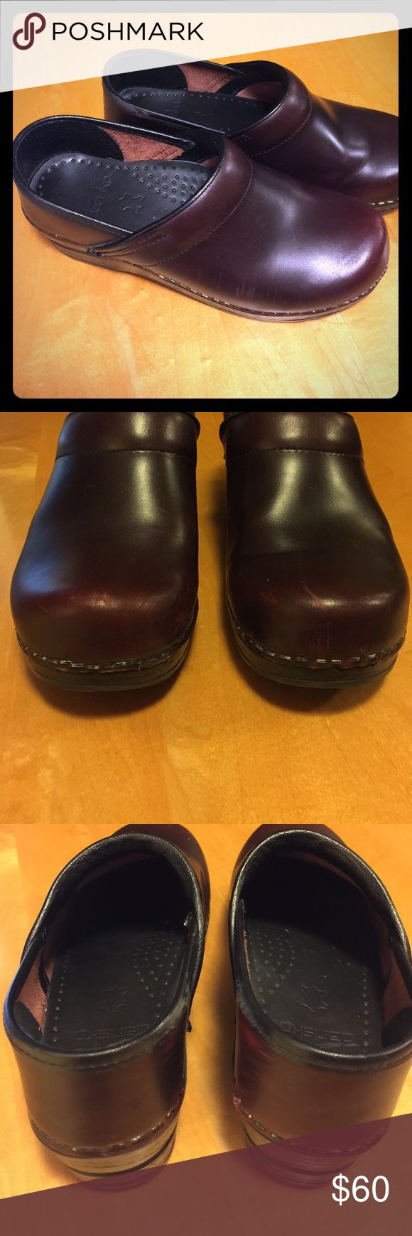 Dansko Burgundy Professional Nursing Clogs Worn a few times - great condition!  Size 36 which fits 5.5-6.  No trades please. Dansko Shoes Mules & Clogs