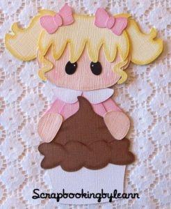 On Ebay ~ Birthday Girl Cupcake Paper Piecing
