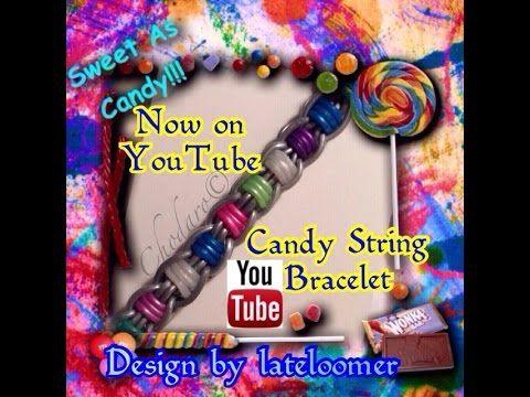 Rainbow Loom Candy String Bracelet Tutorial Designed by Instagram LateLoomer