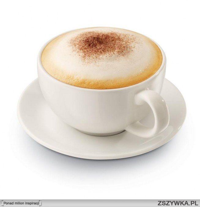 Zobacz zdjęcie Cappuccino - przepis:  Składniki: - świeżo zaparzona kawa (100 ml) - mleko (ok. 150 ml - pół kubka) - kakao/utarta czekolada lub cynamon do posypania.  Sposób przygotowania:  Zaparz kawę (najlepiej taką z włoskiej kafeterki). Ważne, żeby nie było jej za dużo i  aby była mocna! Podgrzej mleko a następnie przy pomocy specjalnego spieniacza do mleka przyrządź gęstą piankę (im gęstsza tym lepsza!). Do filiżanki najpierw wlej gorącą kawę a potem spienione, gorące mleko. Osłódź do…