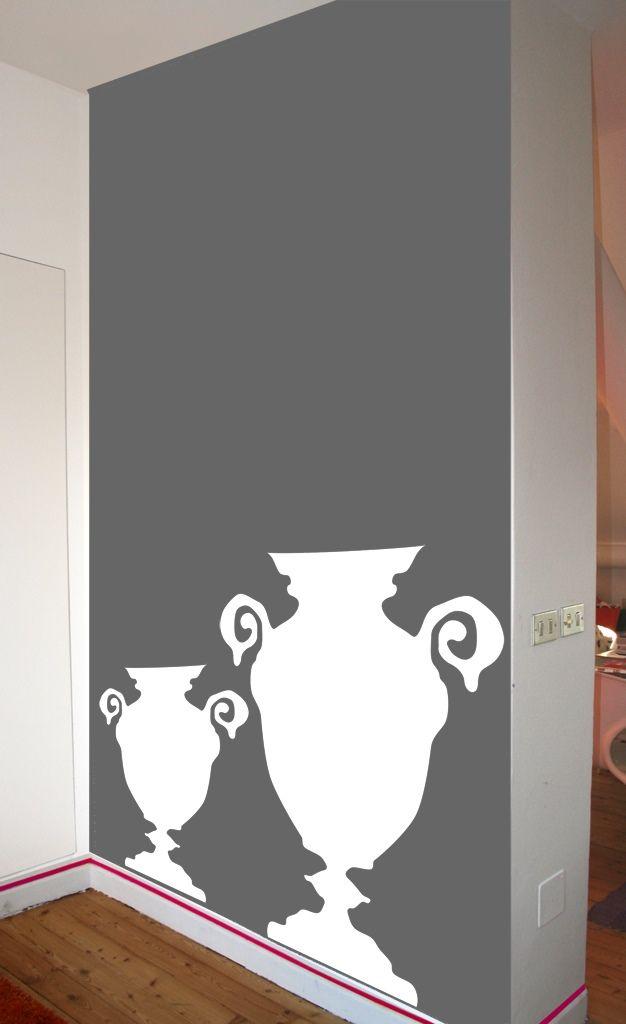 Amphora - total decoration - Wallstickers - Adesivi da parete by Silviastickers.com - I coloratissimi Wall Stickers firmati Silvia Massa Studio. Composizioni originali di Wallstickers, Adesivi Murali per grandi e bambini.