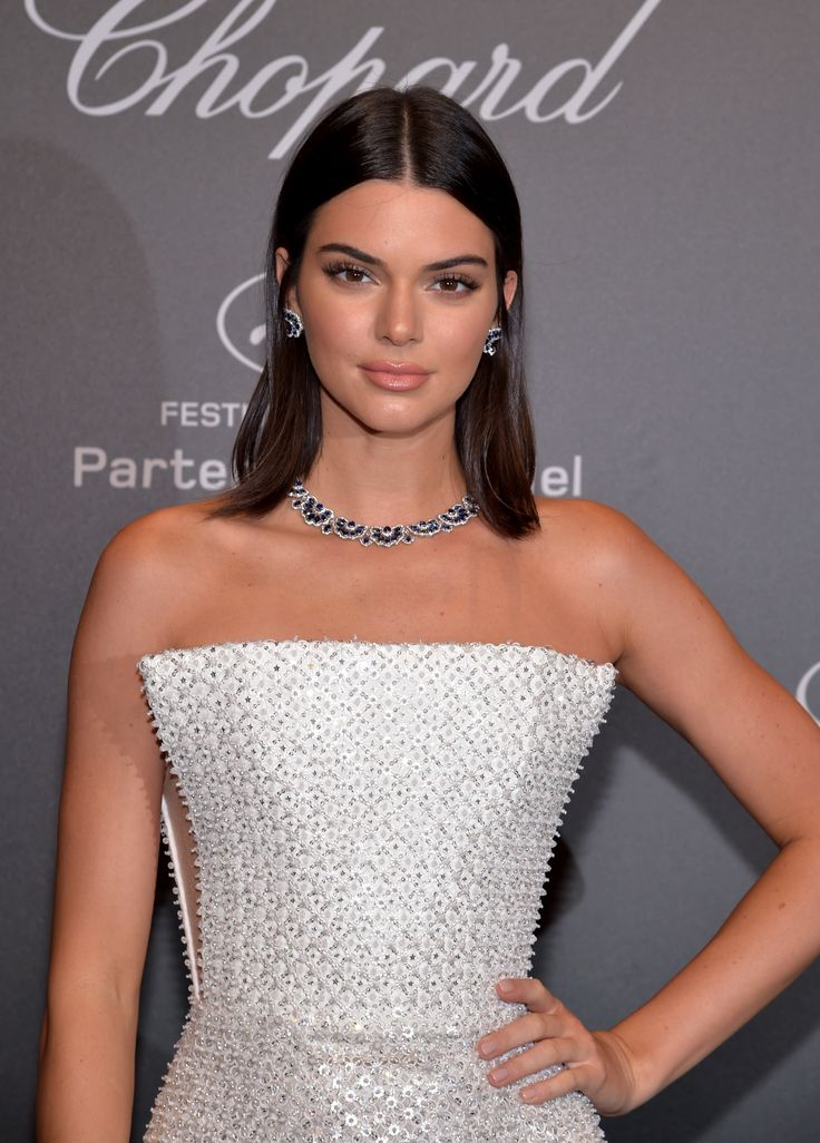 Kendall Jenner looked flawless at Chopard's Space Party on Friday in a space-age, floor-length strapless white beaded Ralph & Russo gown, accessorised with a sapphire and diamond necklace with matching earrings by Chopard. As seen at the Chopard Space Party. For glamour celebrity fashion Cannes Film Festival red carpet jewellery spotting travel here: http://www.thejewelleryeditor.com/jewellery/top-5/cannes-film-festival-red-carpet-jewellery-day-two/ #jewelry