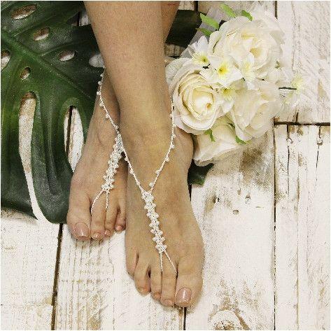 Barefoot sandals, beach, barefoot sandle, barefoot beach, pearl, beaded, crochet, beach wedding,