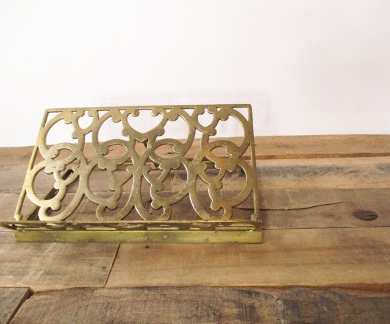 Vintage Brass Cook Book Holder, Bible Stand or Songbook Holder with Ornate Design. Perfect gift for the chef in your life or the musician!
