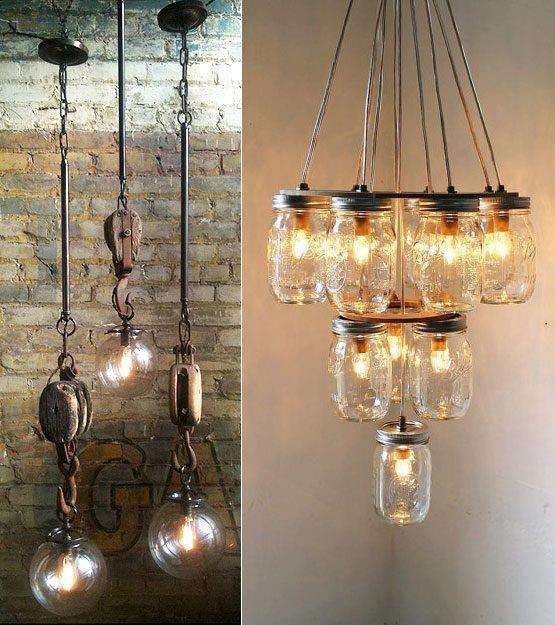Rustic Light Industrial Chandelier Rope Pulley Yoke Wood Metal: 57 Best Images About Inspiratie Verlichting On Pinterest