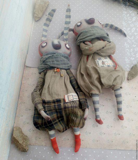 Игрушки животные, ручной работы. Зайки в одеяле. Митина Марина (mitina). Ярмарка Мастеров. Подарок подруге, фланель