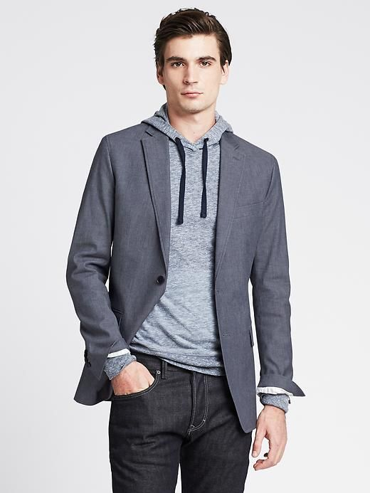 Tailored Chambray Blazer Product Image