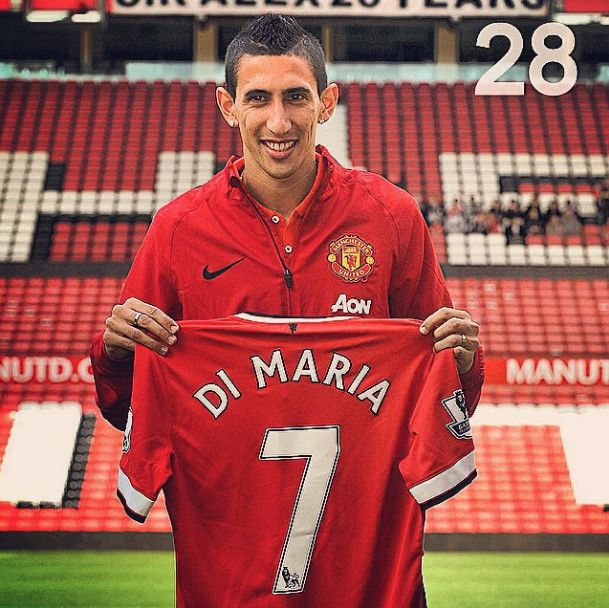 At number 28 on GiveMeSport's 2014 moments is Manchester United signing Angel di Maria for a British record fee. See the full countdown at givemesport.com. #mufc #DiMaria #ManchesterUnited #Argentina