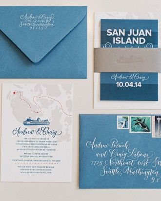 Craig And Andrew's Handsome Washington Wedding - The Stationery