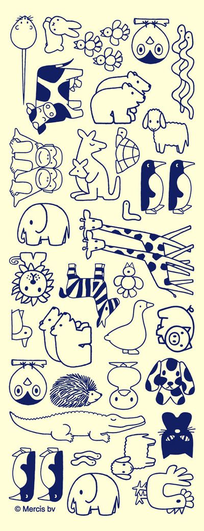 Dutch master Dick Bruna just knows how to draw animals at their best. #dickbruna | embroidery idea | stamp?