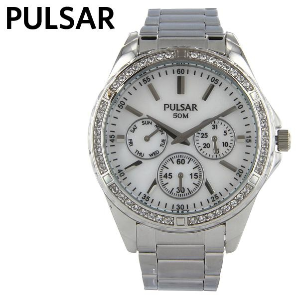 Pulsar 3-Hand Silver-Tone Ladies Watch