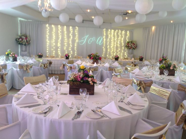 110 best adelaide wedding reception images on pinterest marriage wedding reception with paper lanterns fairy lights and rustic box centrepieces with an assortment of junglespirit Image collections