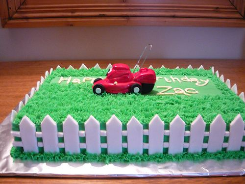 Zac's lawn mower cake. | Flickr - Photo Sharing!