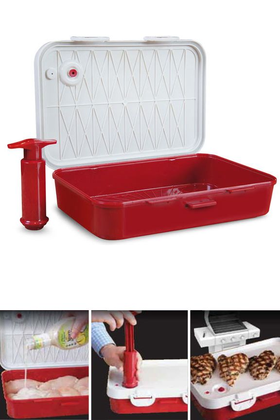 "Small Vacuum Marinater (6"" x 9""): Infuse Flavor In An Instant! No More Waiting. Same Great Taste."