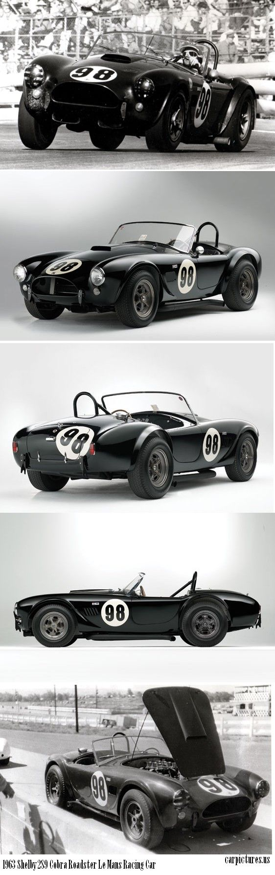 1963 Shelby 289 Cobra Roadster Le Mans Racing Car ✏✏✏✏✏✏✏✏✏✏✏✏✏✏✏✏ AUTRES VEHICULES - OTHER VEHICLES   ☞ https://fr.pinterest.com/barbierjeanf/pin-index-voitures-v%C3%A9hicules/ ══════════════════════  BIJOUX  ☞ https://www.facebook.com/media/set/?set=a.1351591571533839&type=1&l=bb0129771f ✏✏✏✏✏✏✏✏✏✏✏✏✏✏✏✏