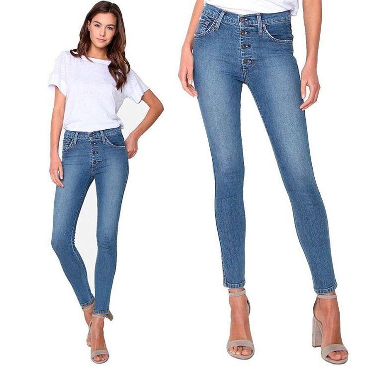 Застежка на пуговицах не закрытая планкой – очень модный тренд в этом сезоне. Все джинсовые марки предложили свои интерпретации. Нам очень нравится вариант James Jeans – укороченные скинни с высокой посадкой, собрав все 3 модных тренда в 1 паре.  #summer #fashion #outfitidea: #stylish #James #Jeans with #trendy #buttonfly help to create #chic #outfit #мода #стиль #тренды #джинсы #модно #стильно #киев #новая коллекция