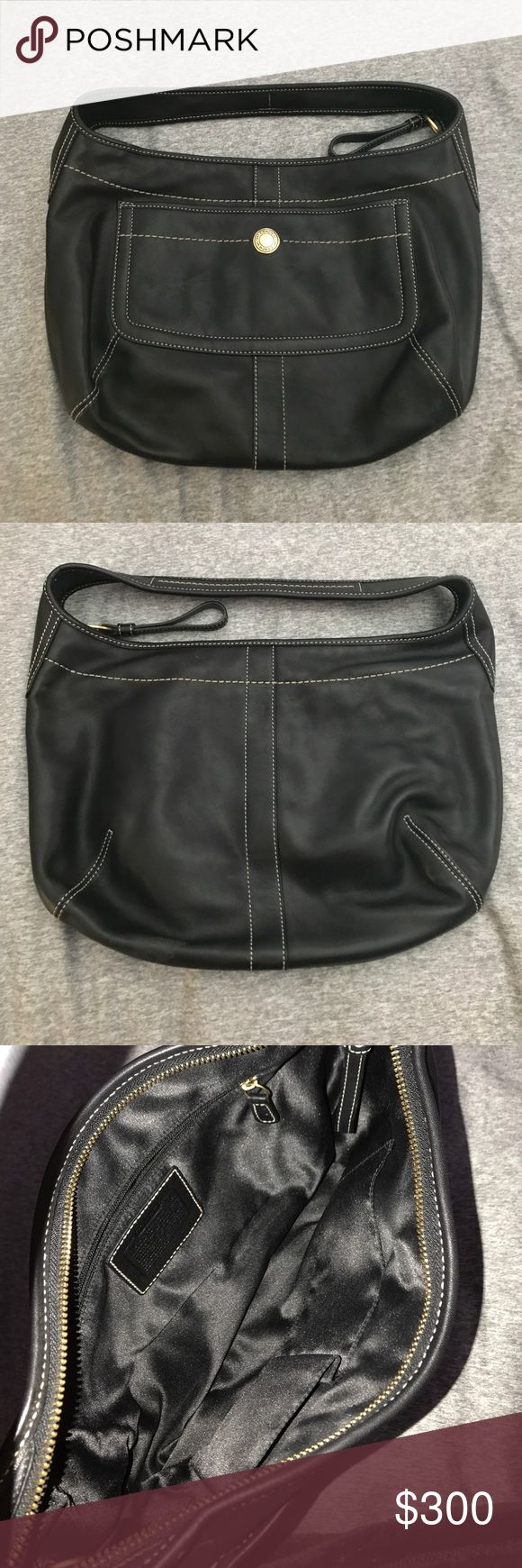 Black Classic Coach Pocketbook/ Shoulder Bag Black Classic Coach Pocketbook/ Shoulder Bag. Used but in excellent condition. No scratches on leather. Comes with dust bag. Coach Bags Shoulder Bags