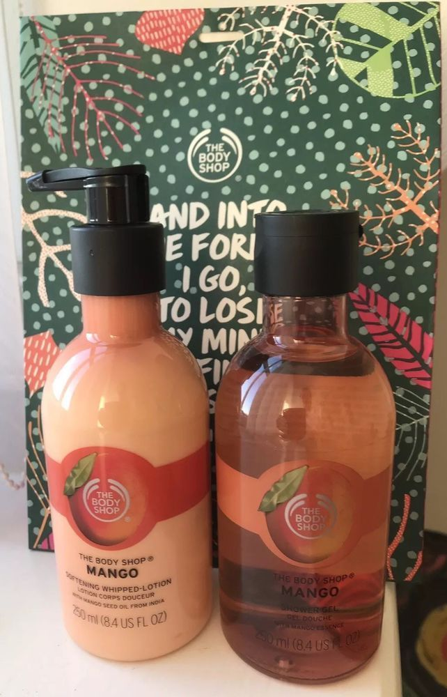 Christmas Gift Sets Body Shop.Body Shop Gift Set Mango Shower Gel And Mango Whipped Lotion