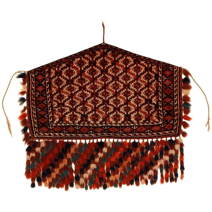 Antique Turkmen Wedding Trapping | From a unique collection of antique and modern central asian rugs at https://www.1stdibs.com/furniture/rugs-carpets/central-asian-rugs/