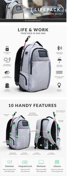 Lifepack: Solar Powered & Anti-Theft Backpack by Solgaard Design — Kickstarter
