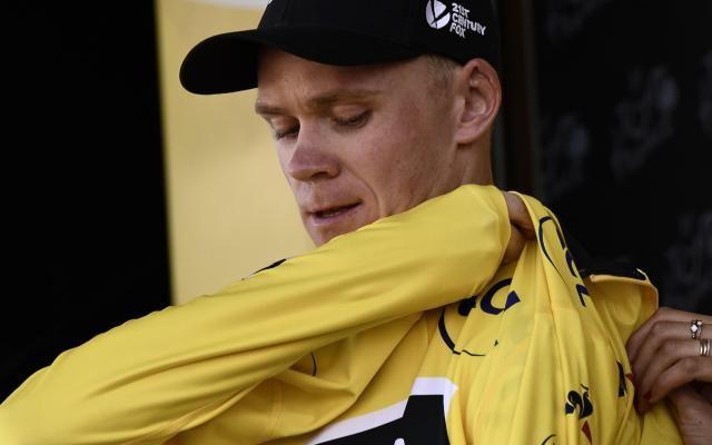 """Froome attaque et s'empare du maillot jaune sur le Tour de France: """"Des indications pour l'avenir"""" -                  Le vainqueur sortant, le Britannique Chris Froome, a pris les commandes du Tour de France dès la 5e étape remportée mercredi à La Planche des Belles Filles par le champion d'Italie Fabio Aru.  http://si.rosselcdn.net/sites/default/files/imagecache/flowpublish_preset/2017/07/05/425693380_B9712528988Z.1_2017070518581"""