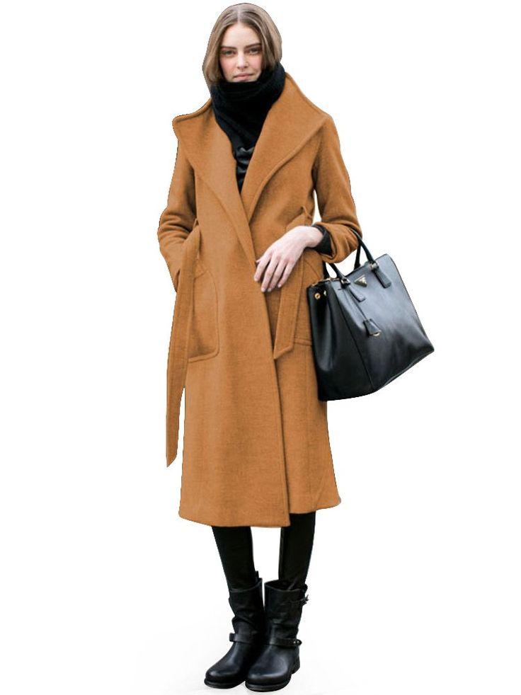 Overrainbow Thicken Winter Coats For Women Camel Jakcet
