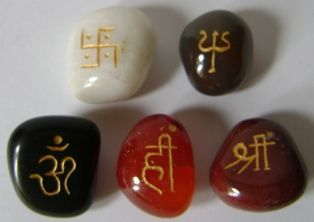 set of 05 mantra stones,all stones are healing real stones.its a powerful set of charged beejaksher mantra stones,specially designed & prepare by sanjay guruji .