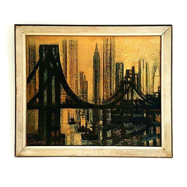 "Marcel Gromaire ""Le Pont de Brooklyn"" NYC Mid-Century"