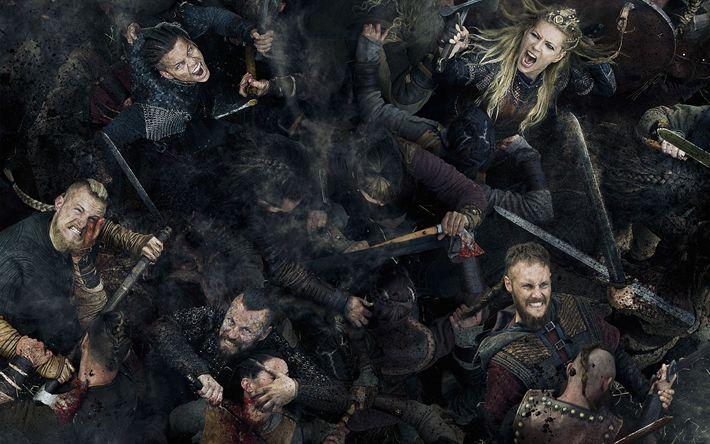 Download wallpapers Vikings, 4k, 2017 movie, Season 5, TV series