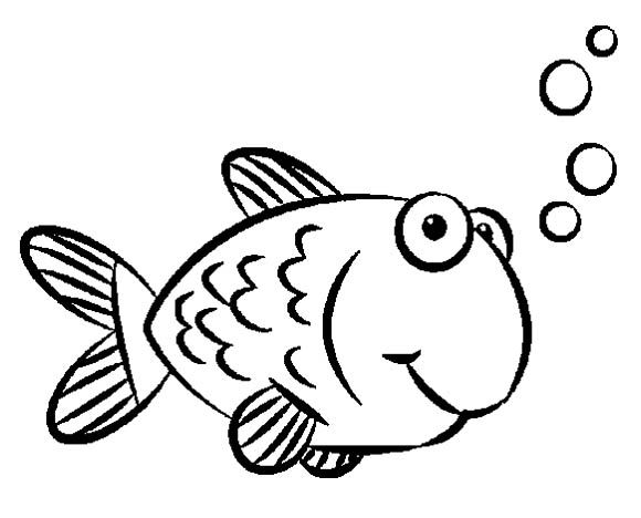 Gold Fish Coloring Pages For Kids Printable
