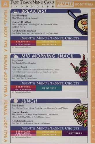 6 week body makeover type a meal plan - Google Search