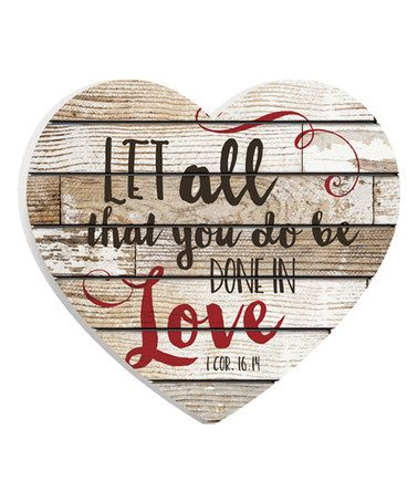 Another great find on #zulily! 'Done in Love' Heart Wall Sign #zulilyfinds