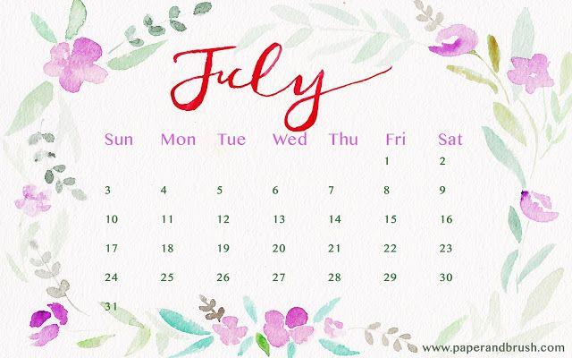 Virtual Calendar Wallpaper : Más de ideas únicas sobre calendario julio en pinterest