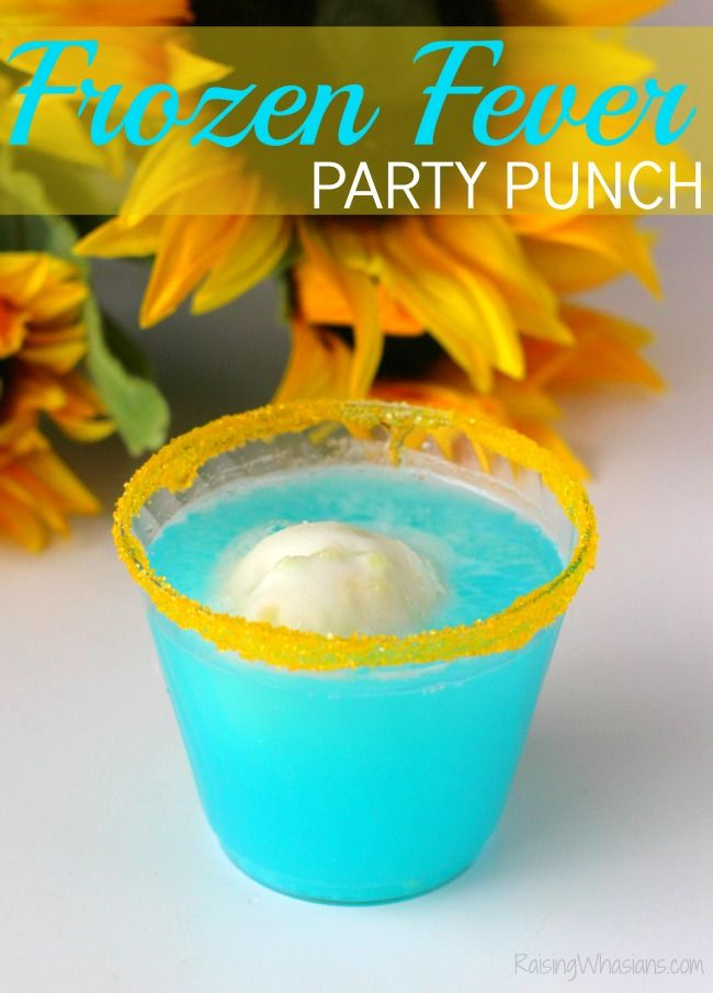 Frozen Fever Party Punch   Perfect easy drink idea for your next Disney party!