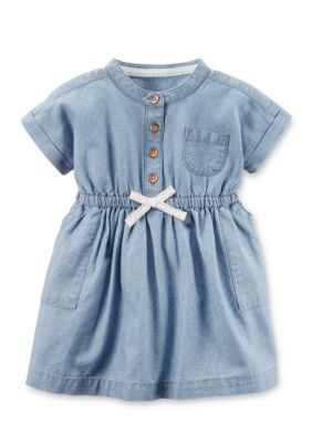 Carter's  Chambray Shirt Dress - Chambray - 18 Months